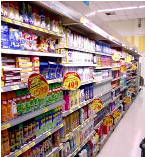 Muitos produtos controlados podem ser encontrados em supermercados. Imagem: Internet.
