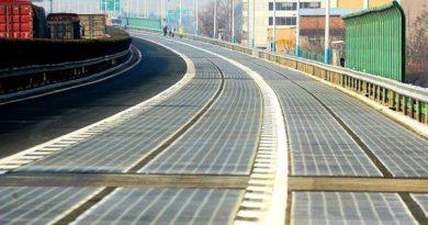 China constrói uma autoestrada de painéis solares