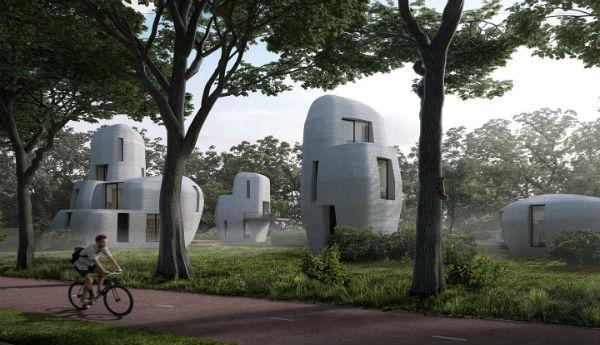 Holanda: Primeira vila de casas impressas em 3D está nascendo